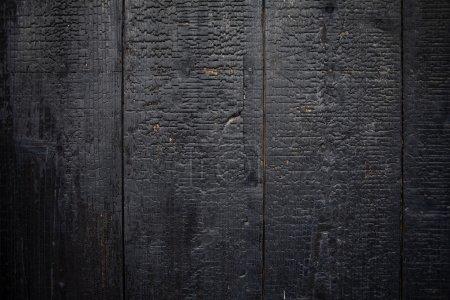 Black burnt wood