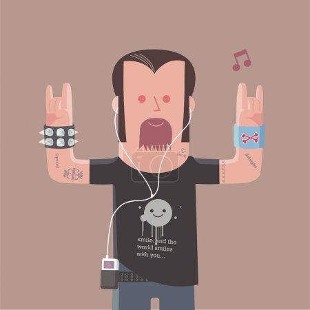 Heavy metal man