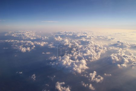Beautiful clouds shot from above