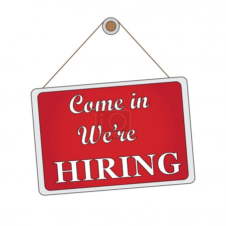 Come in. We're hiring
