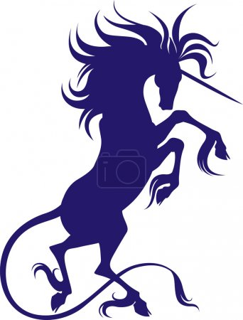 silhouette of Unicorn with cloven hooves