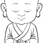 Small sitting buddha vector...