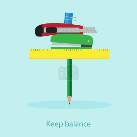 Bussiness office balance