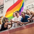 Постер, плакат: Unidentified participants during Gay pride parade