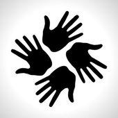 Fekete kéz nyomtatási ikonra