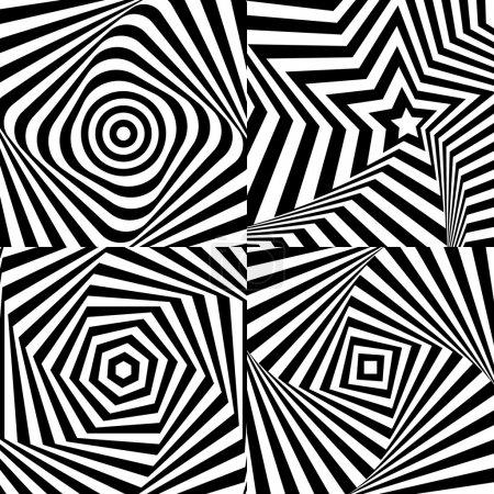 Illustration pour Illusion optique avec texture eps 10 - image libre de droit