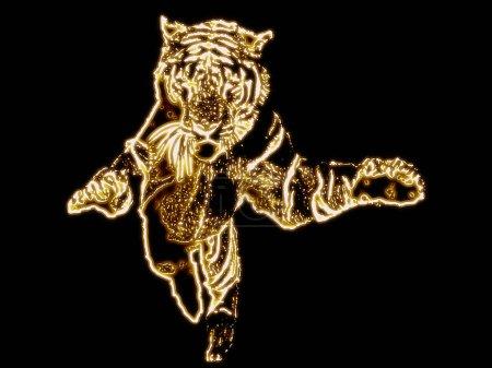 Jumpin' Tiger Design Golden Edition