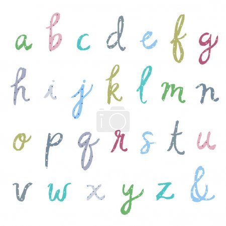 Hand Painted Watercolor Alphabet