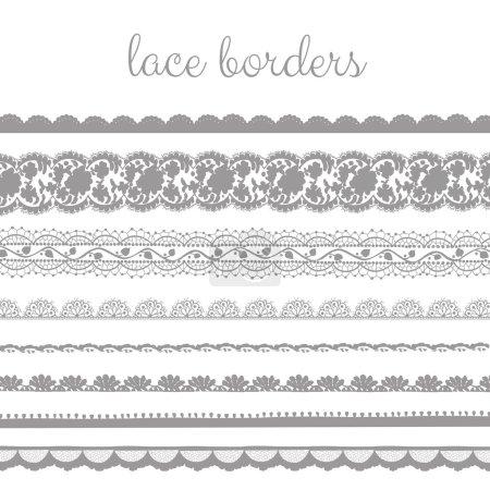 Gray Lace Borders