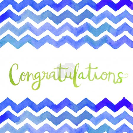 Watercolor Chevron With Congratulation Text