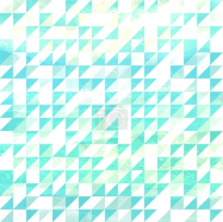 Photo for Blue and white Watercolor Triangle Background pattern - Royalty Free Image