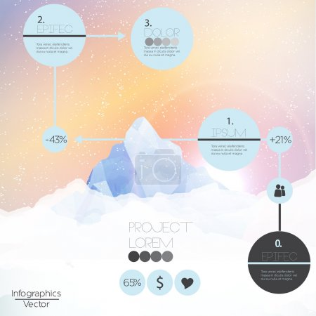 Mountains infographic - Vector Illustration