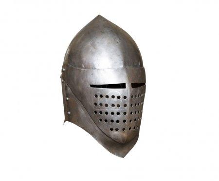 Knight helmet visor folding