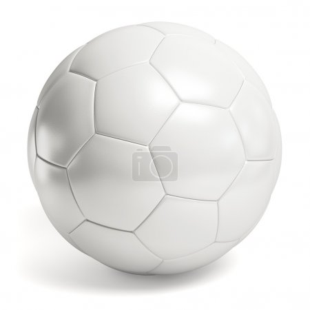 Leather white soccer ball