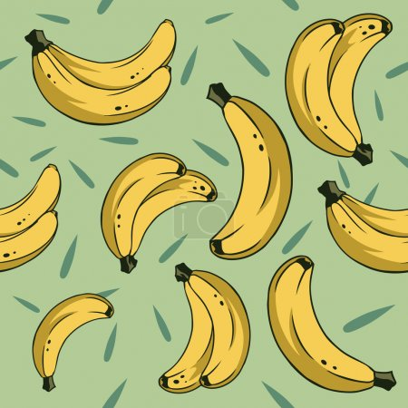 Illustration for Bananas pattern for using in different spheres - Royalty Free Image