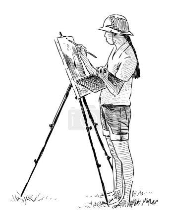 Artist in plein air