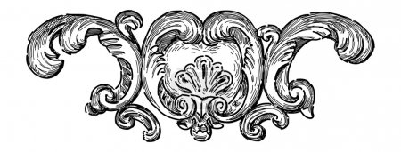 Illustration for Baroque architectural detail - Royalty Free Image