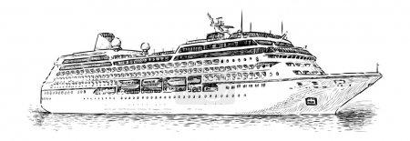 Illustration for Cruise Ship - Royalty Free Image