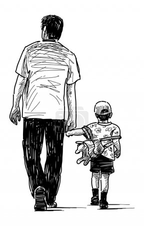 Illustration for Father with son - Royalty Free Image