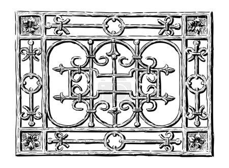 Illustration pour Grille forgée - image libre de droit