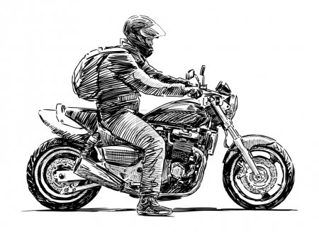 Man on a motorcycle