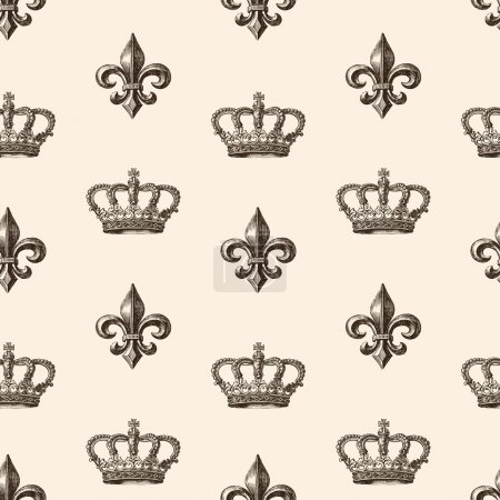 Pattern of heraldic symbols