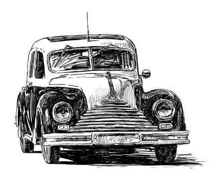 Illustration pour Vieille voiture - image libre de droit