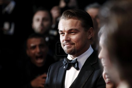 Photo for Actor Leonardo DiCaprio attends the Premiere of The Great Gatsby at The 66th Cannes Film Festival on May 15, 2013 in Cannes, France - Royalty Free Image
