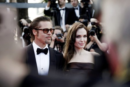 Photo for Angelina Jolie and Brad Pitt attend The Tree Of Life Premiere during the 64th Cannes Film Festival on May 16, 2011 in Cannes - Royalty Free Image