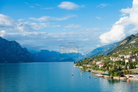 Lake Garda is the largest lake in Italy. It is located in Northe