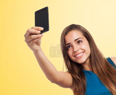 Girl taking selfie photo