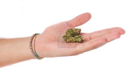 Man trading marijuana