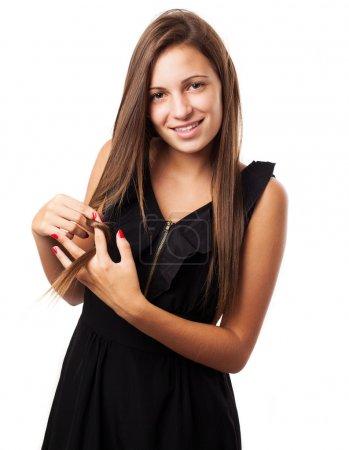 Young woman wearing dress