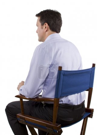 Casting director on chair
