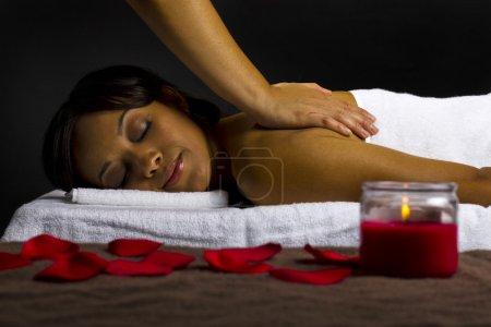 Female getting massage