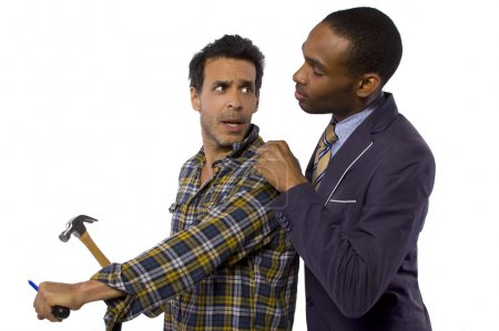 Photo for Blue collar worker vs professional - Royalty Free Image