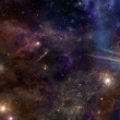 Wide deep space banner with male hands cupped and ...