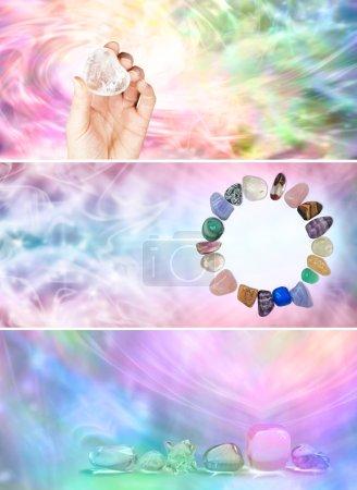 Crystal healing website banners