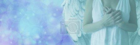 Blue Bokeh Angel Banner