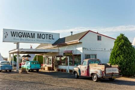 Wingwam Village Motel 6 on the historic Route 66 in Holbrook, Arizona, USA