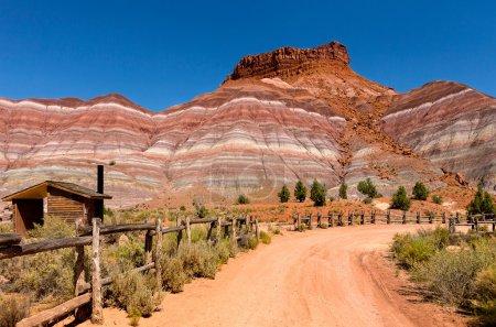 Foto de Paria sitio fue primero un asentamiento Mormón y entonces a partir de 1942 hasta 1976 como película para westerns como buffalo bill, los sargentos 3, el outlaw josey wales etc.. - Imagen libre de derechos