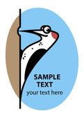 Cartoon woodpecker