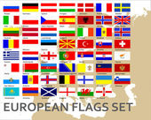 European countries flags set vector