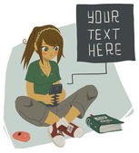 Girl Writing Text Message