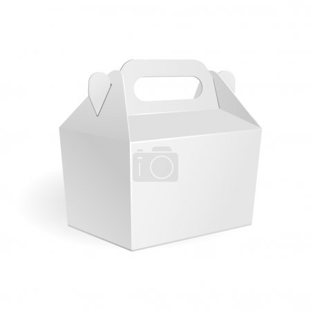 Ilustración de Carton carry package isolated on white background - Imagen libre de derechos