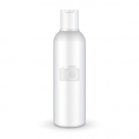 Illustration for Shampoo, Gel Or Lotion Plastic Bottle On White Background Isolated. Ready For Your Design. Product Packing Vector EPS10 - Royalty Free Image