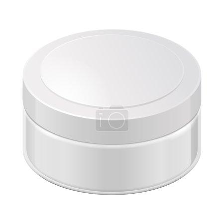 Cream, Gel Or Powder, Light Gray, White, Glass Jar Can Cap Bottle
