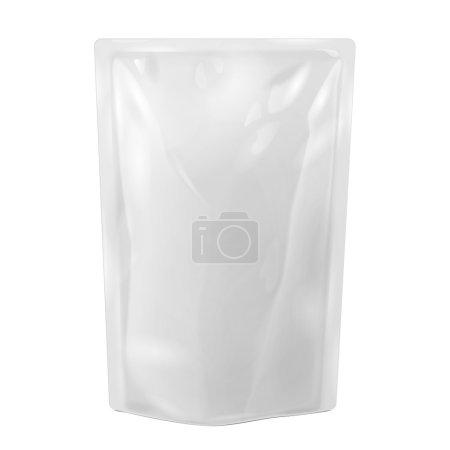 White Blank Foil Food Or Drink Bag Packaging