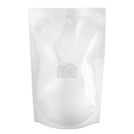 White Blank Foil Food Or Drink Doypack Bag Packaging