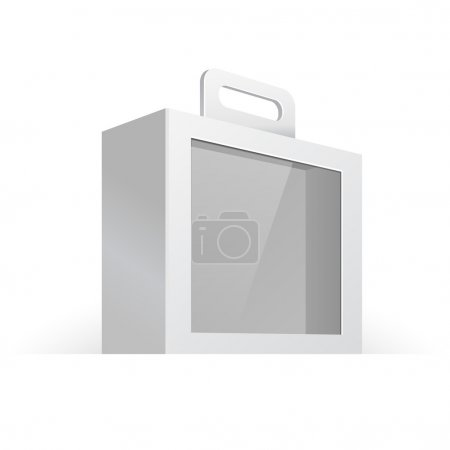 Carton Or Plastic White Blank Package Box With Handle And Window